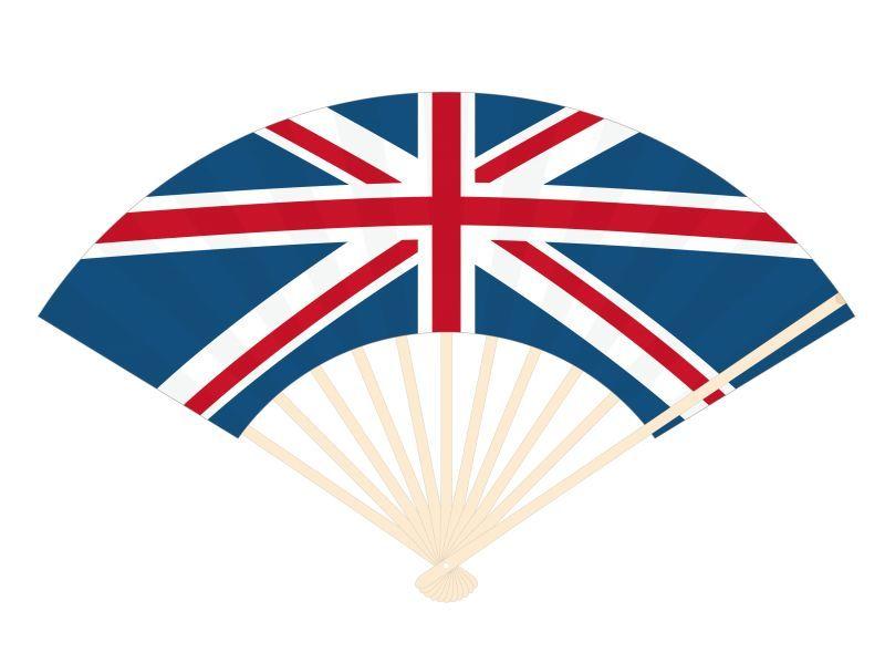 画像1: 【扇子】 国旗扇子 イギリス (1)