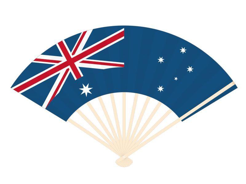画像1: 【扇子】 国旗扇子 オーストラリア (1)