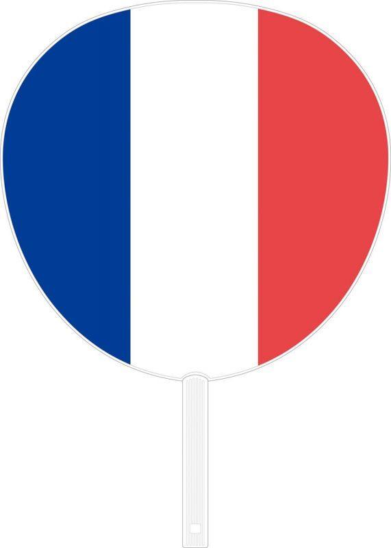 画像1: 【うちわ】 国旗ジャンボうちわ フランス (1)