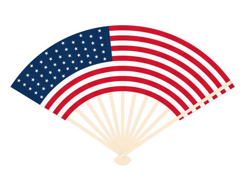 画像1: 【扇子】 国旗扇子 アメリカ (1)