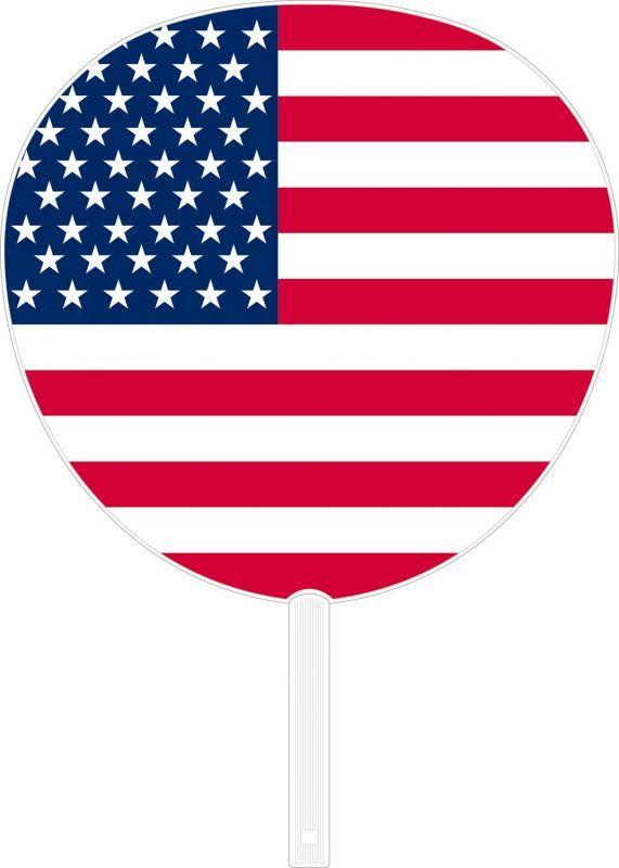 画像1: 【うちわ】 国旗ジャンボうちわ アメリカ (1)
