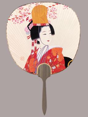 画像1: 【うちわ】【美人画】 都うちわ  光園美人(桜) (1)