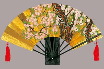 画像1: 【飾り扇】 金地飾り扇子  さくら (1)