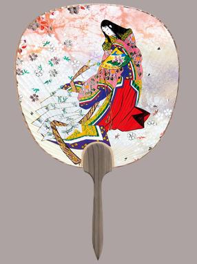 画像1: 【うちわ】【源氏物語】 都うちわ  源氏物語(花宴)   (1)
