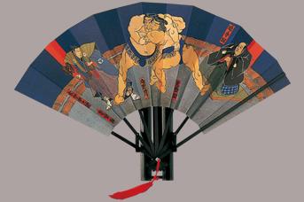 画像1: 【版画扇】【相撲浮世絵】  小野川 (1)