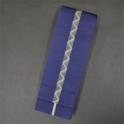 画像1: [角帯] ポリエステル角帯 八島 (紺×黄) (1)