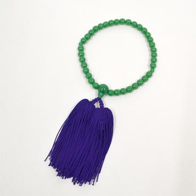 画像1: 【御念珠】 婦人用 ハリヒスイ紫房 片手松房(化粧箱入) (1)