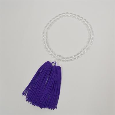 画像1: 【御念珠】 婦人用 上ハリ紫房 片手松房(化粧箱入) (1)