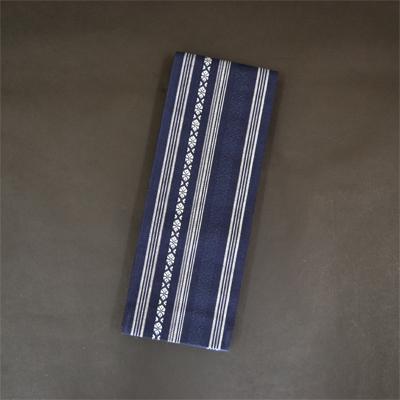 画像1: [角帯] 綿献上角帯 鉄紺 (1)