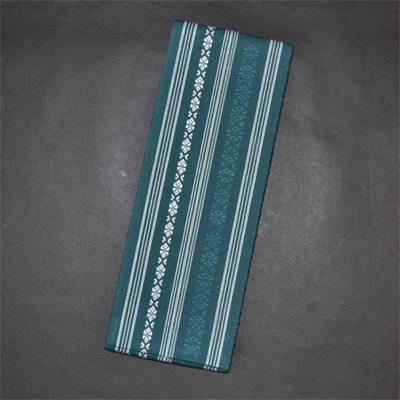 画像1: [角帯] 綿献上角帯 青緑 (1)