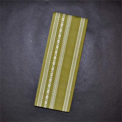 画像1: [角帯] 綿献上角帯 抹茶 (1)