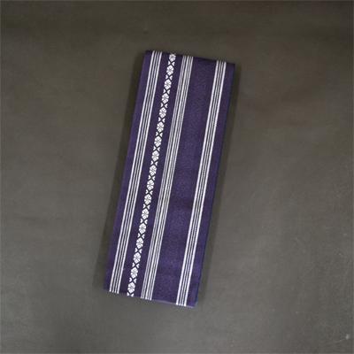 画像1: [角帯] 綿献上角帯 花紺 (1)