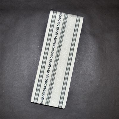画像1: [角帯] 綿献上角帯 ライトグレー (1)