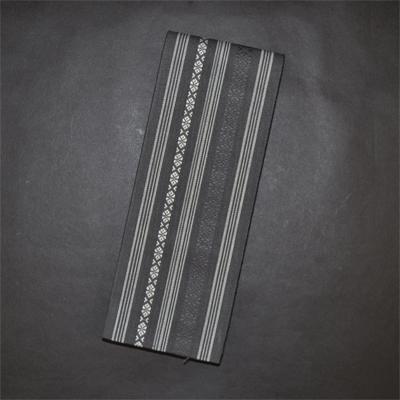 画像1: [角帯] 綿献上角帯 チャコールグレー (1)