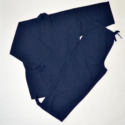 画像1: [紳士作務衣] hiromichi nakano 変わり刺子調作務衣(濃紺) (1)