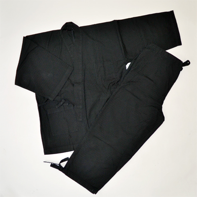画像1: [紳士作務衣] hiromichi nakano 変わり刺子調作務衣(黒) (1)