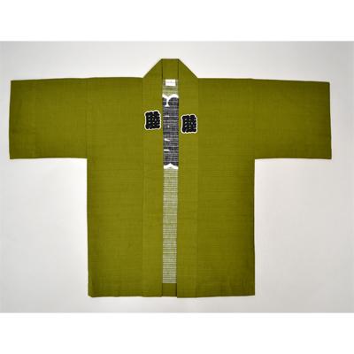 画像1: 【祭衣装】  祭袢天 シャンタン無地 (グリーン) (1)