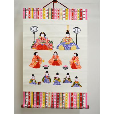 画像1: 【和雑貨】 ひな壇飾りタペストリー (1)