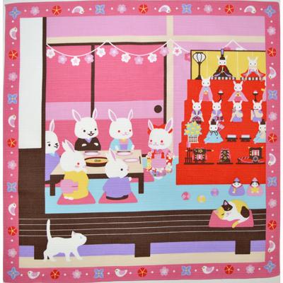 画像1: 【小風呂敷】【四季彩布】 うちの雛祭り 🎎 (1)