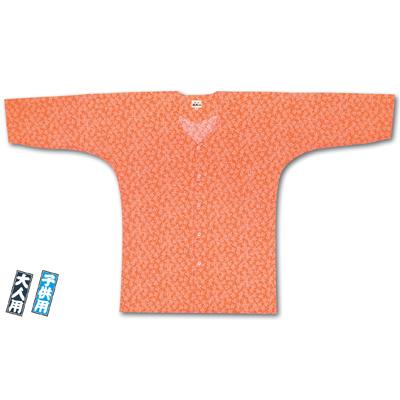 画像1: 【江戸一】 鯉口シャツ(江戸小紋) オレンジ祭 子供用 (1)