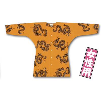 画像1: 【江戸一】 鯉口シャツ(特選手拭) 宇金龍 女性用 (1)