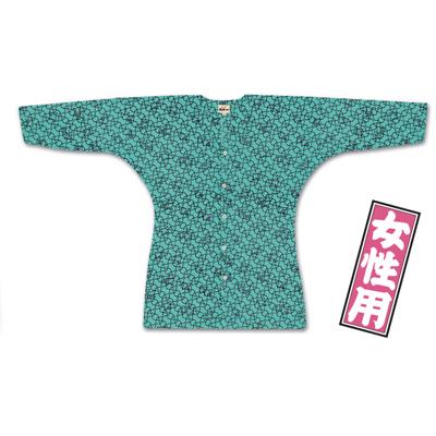 画像1: 【江戸一】 鯉口シャツ(特選手拭) あじろ千鳥 女性用 (1)