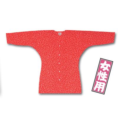 画像1: 【江戸一】 鯉口シャツ(特選手拭) 梅 女性用 (1)
