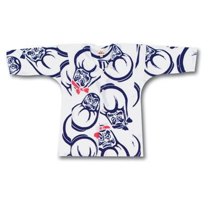 画像1: 【江戸一】 鯉口シャツ(手拭) だるま 子供用 (1)