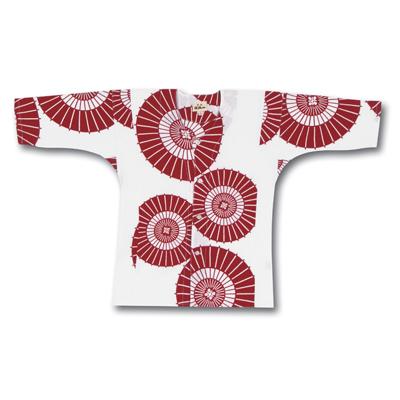 画像1: 【江戸一】 鯉口シャツ(手拭) 蛇の目ちらし 子供用 (1)