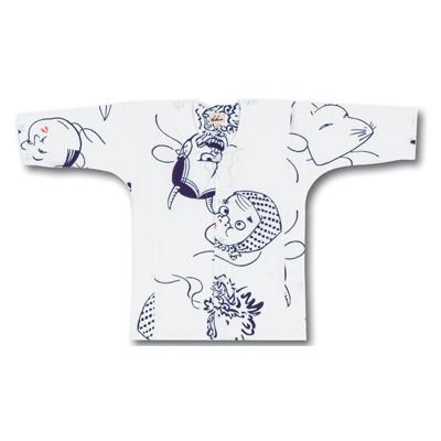 画像1: 【江戸一】 鯉口シャツ(手拭) 五面 子供用 (1)