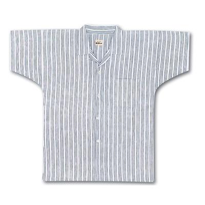 画像1: 【江戸一】 シャツ手拭  三筋縞 (1)