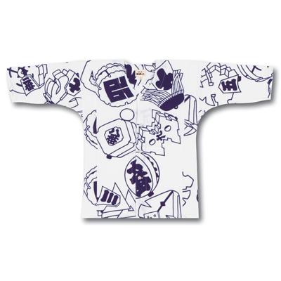 画像1: 【江戸一】 鯉口シャツ(手拭) まとい 子供用 (1)
