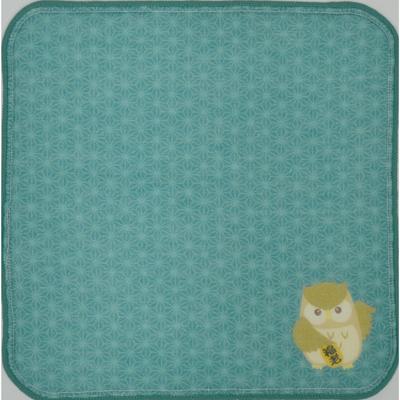 画像1: [ハンカチ]日本の縁起招き タオルはんかち 福ろうグリーン (1)