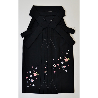 画像1: 【卒業衣装】 こども女子袴 黒 (1)