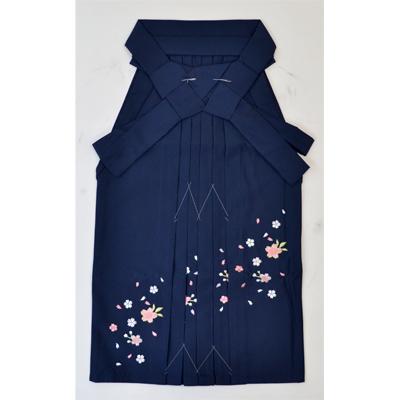 画像1: 【卒業衣装】 こども女子袴 紺 (1)
