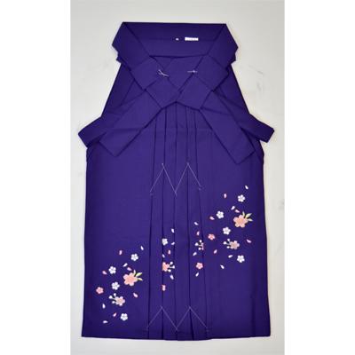 画像1: 【卒業衣装】 こども女子袴 紫 (1)