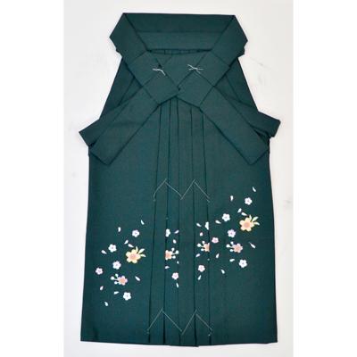 画像1: 【卒業衣装】 こども女子袴 緑 (1)