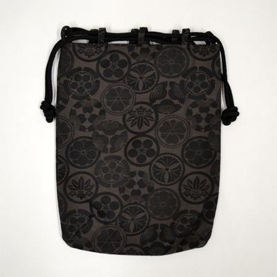 画像1: 【信玄袋】 信玄袋・平 家紋柄 黒 (1)