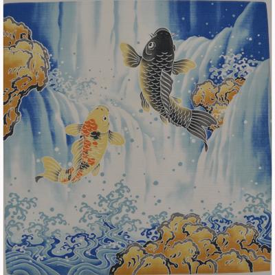画像1: 【小風呂敷】 鯉の滝登り (1)