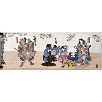 画像1: 【手拭い】 豊国の浮世絵二重ガーゼ手拭い「歌舞伎」  (1)