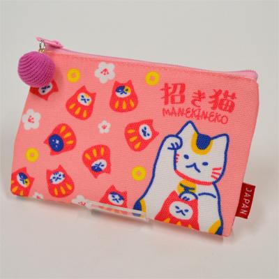 画像1: 【新商品】[和雑貨]ご当地ポーチ 招き猫 (1)