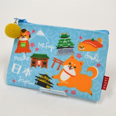 画像1: 【新商品】[和雑貨]ご当地ポーチ 柴犬JAPAN  (1)
