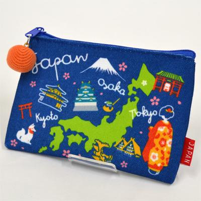画像1: 【新商品】[和雑貨]ご当地ポーチ 日本地図 (1)