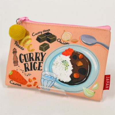 画像1: 【新商品】[和雑貨]日本漫遊ポーチ カレー (1)