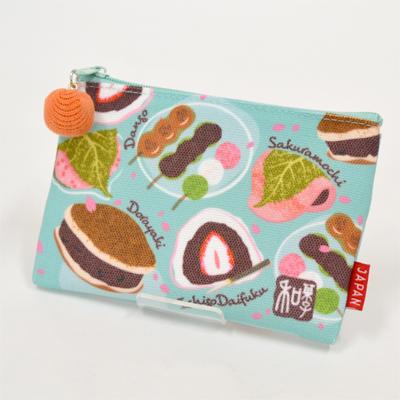 画像1: 【新商品】[和雑貨]日本漫遊ポーチ 和菓子 (1)