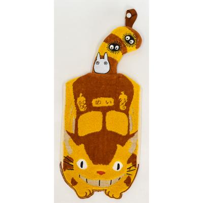 画像1: 【となりのトトロ】 マスコット付きドレスタオル 「ネコバスのおむかえ」  (1)