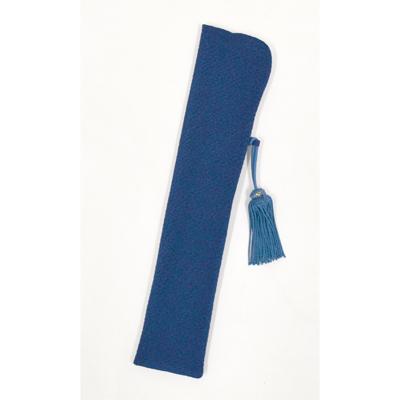 画像1: 【扇子袋】 ちりめんせんす袋 【婦人用・青】 (1)