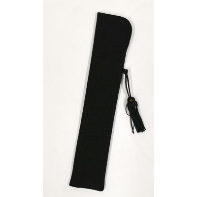 画像1: 【扇子袋】 ちりめんせんす袋 【婦人用・黒】 (1)