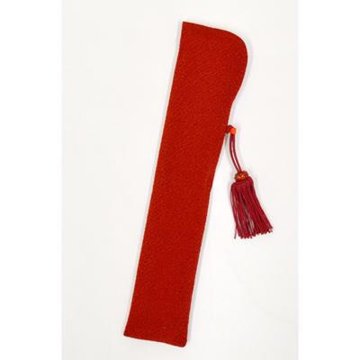 画像1: 【扇子袋】 ちりめんせんす袋 【婦人用・赤】 (1)