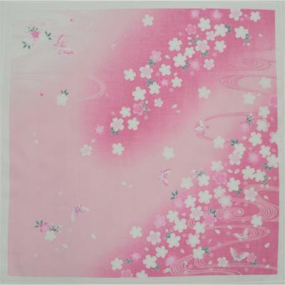 画像1: 【ガーゼハンカチ】大判ソフトガーゼハンカチ さくら「水流」(ピンク) (1)